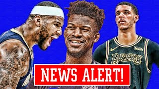JIMMY BUTLER NOT HAPPY! LAKERS TRYING TO MAKE MOVES! COUSINS TAKES SHOT AT PELICANS!   NBA NEWS