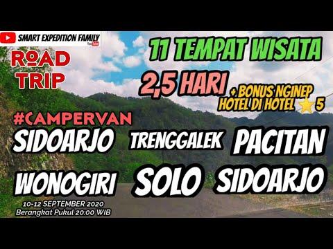 ROAD TRIP Trenggalek Pacitan Wonogiri SOLO   11 Tempat Wisata + BONUS   MOBILKU RUMAH BERJALANKU