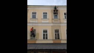 Ремонт фасада жилого дома в Москве(Ремонт фасада жилого дома в Москве компанией ООО