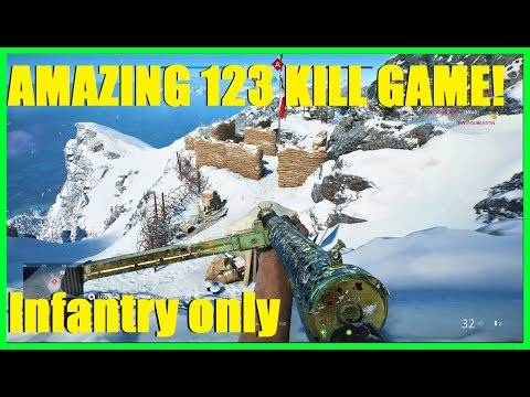 Battlefield V - AMAZING 123 KILL GAME! (Infantry Only) ALL GOLD STEN BEST GUN IN GAME! (123/14) thumbnail