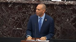 Hakeem Jeffries responds to protester disrupting Senate impeachment trial