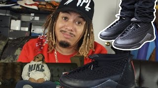 "YALL SLEEP !!!! 2017 JORDAN 15 ""STEALTH REVIEW AND ON FEET !!!"