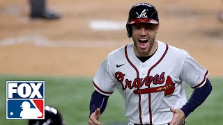 Freddie Freeman on Braves' team dynamics after 10-2 win over Dodgers in Game 4 of NLCS | FOX MLB