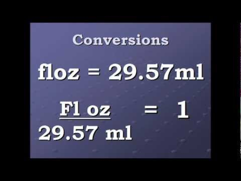 Conversion Fluid Ounce To Milliliters And Back Again Wmv