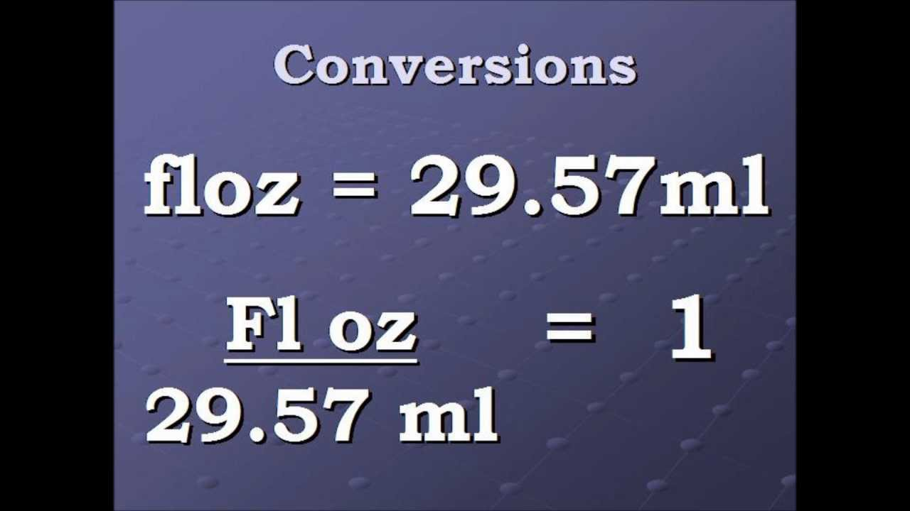 Conversion Video Fluid Ounce To Milliliters And Back Againwmv Youtube