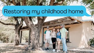 BRINGING MY CHILDHOOD HOME BACK TO LIFE | Aaryn Williams