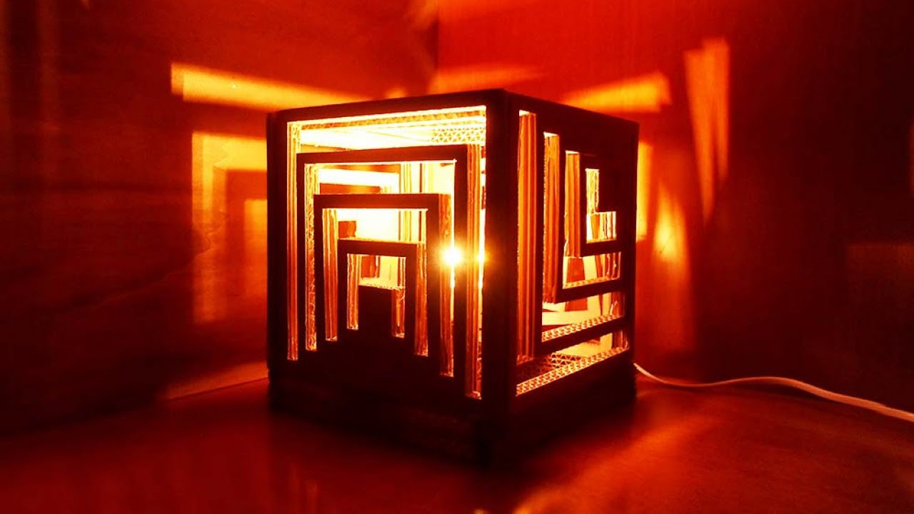 How To Make A Multifaceted Cardboard Lamp Diy Home Tutorial