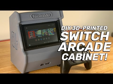 Build your own 3D-printed Nintendo Switch arcade cabinet!