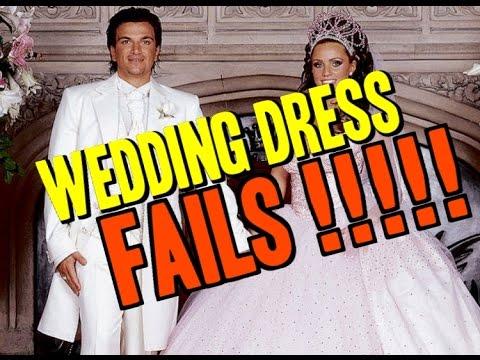 13 Celebrity Wedding Dress Fails - YouTube