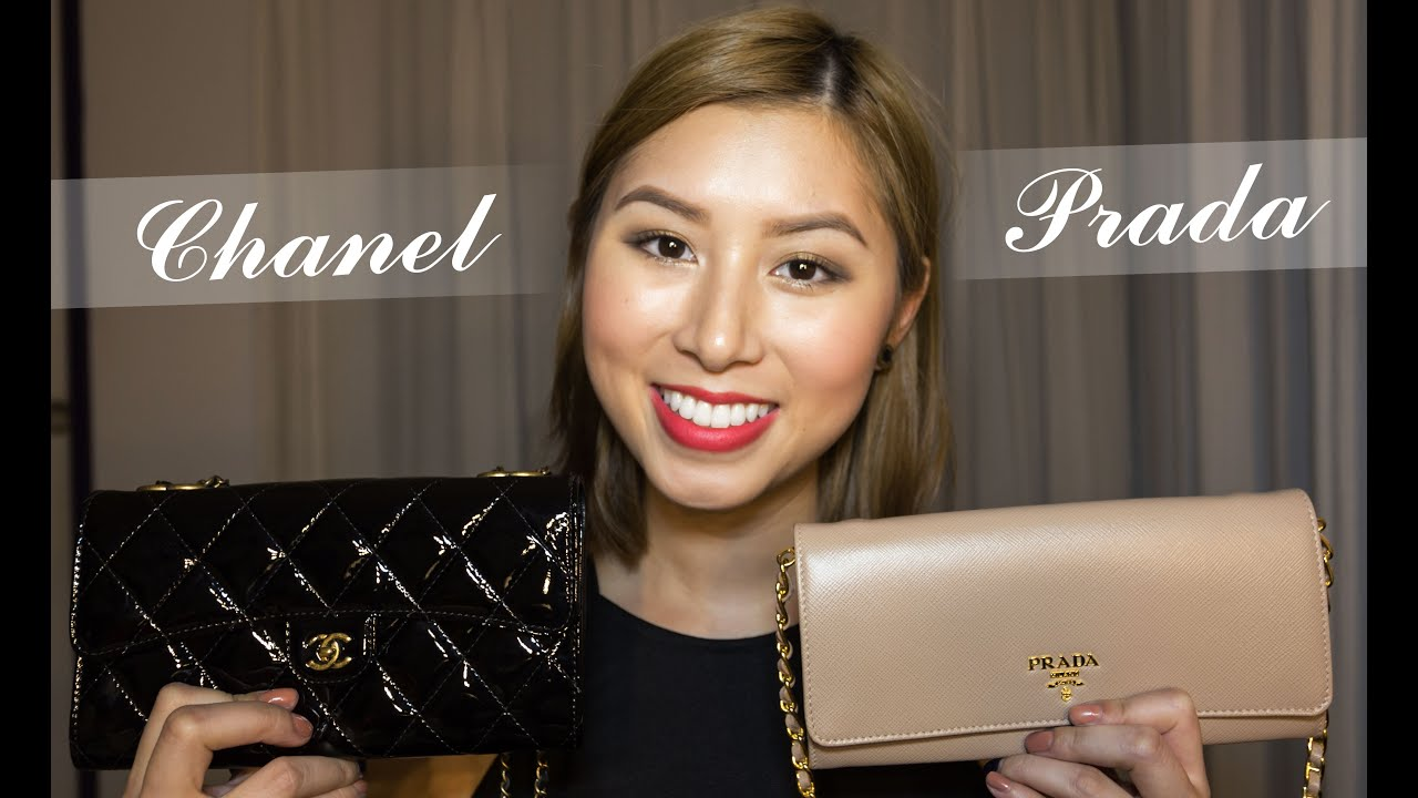 red prada purse - Chanel Vs Prada Wallet on Chain Unboxing \u0026amp; Comparison | Grace Ho ...