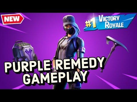 Purple Remedy Skin Gameplay In Fortnite