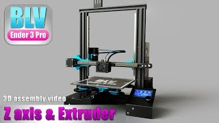 BLV ender 3 Pro - Z axis and extruder assembly