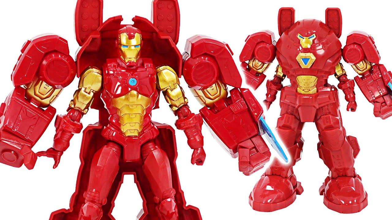Marvel Avengers Mech Strike Iron Man Mech suit appeared! | DuDuPopTOY