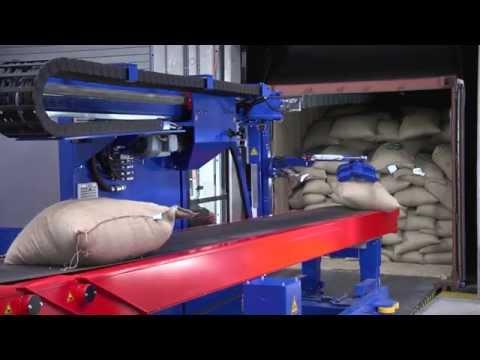 Copal C2 container unloader - unloading jute bags