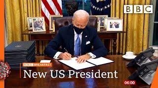 Biden starts reversing Trump policies with executive orders 🔴 @BBC News live - BBC