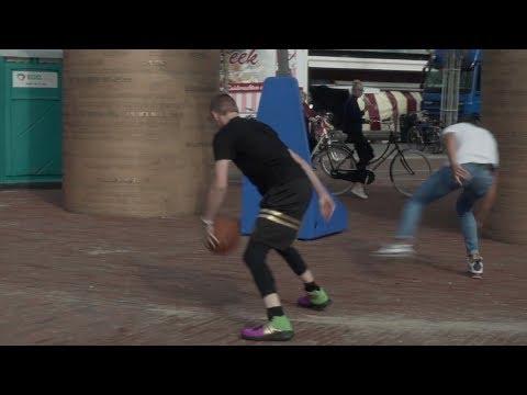 Professor sends dude FLYING off the court with cross in Den Helder, Netherlands(Europe)