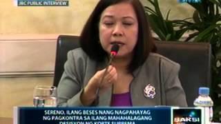 Bagong CJ na si Sereno, nangakong magiging malaya ang Korte Suprema sa impluwensya ng ehekutibo