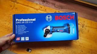 Unpacking / unboxing Cordless Angle Grinder Bosch GWS 18 V-LI 060193A307
