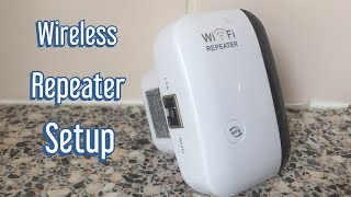 Wireless N Wifi Repeater/ WiFi Extender Router Setup/ WIFi Set up/Review 2019