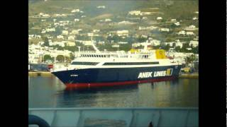 Blue Star Paros arriving Paros