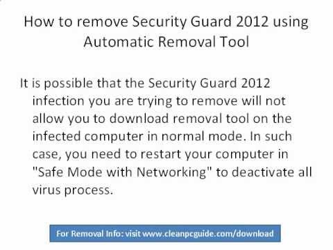 Video Guide On How To Remove Fake Security Programs