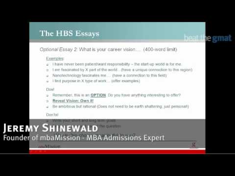 hbs career vision essay Successful business school application essays (harvard business school supplement) if you are looking for specific, or additional, insight geared just for harvard business school, then you should consider purchasing our hbs supplement.