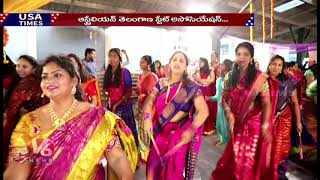 Australian Telangana State Association Organised Bathukamma Celebra...