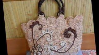 Женские сумки   Вязаные своими руками(В создании стильного образа всегда поможет сумка. Вязаная женская сумка-отличный аксессуар, на который..., 2016-02-22T13:29:00.000Z)