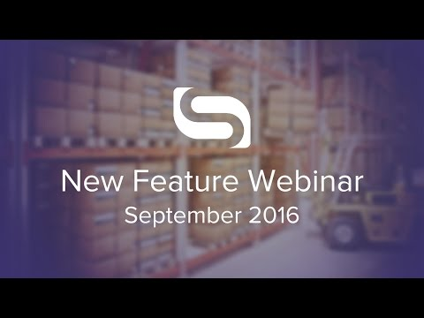 New Feature Webinar - Sep 2016