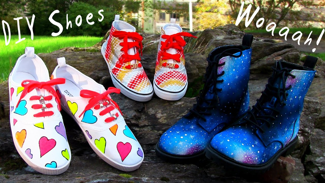 DIY Clothes! 3 DIY Shoes Projects (DIY Sneakers, Boots ...