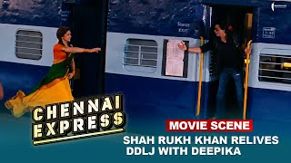 Shah Rukh Khan relives DDLJ with Deepika | Movie Scene | Chennai Express | A film by Rohit Shetty