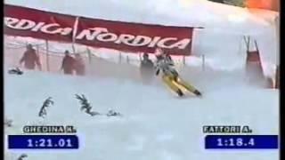 Alessandro Fattori wins downhill (Val d'Isere 2000)