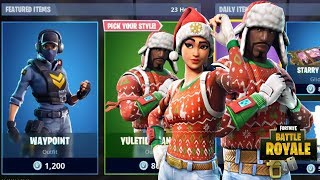 NEW NOG OPS & YULETIDE RANGER SKINS RETURNS + COZY COASTER GILDER NEW FORTNITE ITEM SHOP