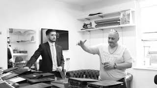 Porky Russ visits his tailors to chat boxing