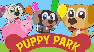 Toddler Learning Videos at Puppy Park  | Learn alphabet, counting, shapes and more!