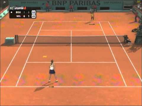Serena Williams vs Eugenie Bouchard - French Open 2014 Semi Final - Top Spin 4