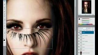 Уроки фотошопа -- Девушка-вампиресса