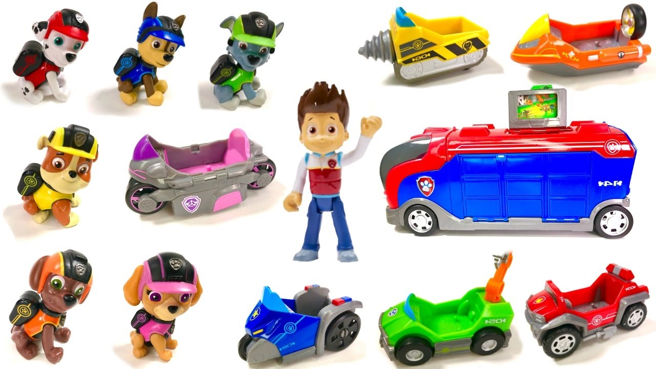 Lots of Paw Patrol Toys Mighty Pups Flip and Fly Vehicles ...   Cars Paw Patrol Pups