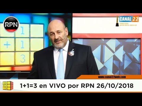 Uno mas Uno tres en VIVO 26/10/2018 1+1=3 #CúneoEnVIVO