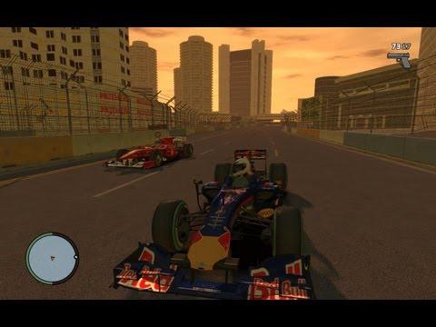 GTA IV - Formula 1 - Massa(gamezone05) Vs Vettel(TheMARTINFCC)