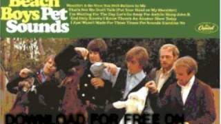 beach boys - Caroline, No - Pet Sounds