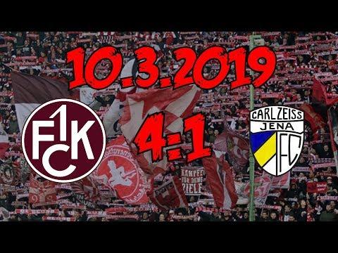 1. FC Kaiserslautern 4:1 FC Carl Zeiss Jena - 10.3.2019 - Stürmischer Sieg!