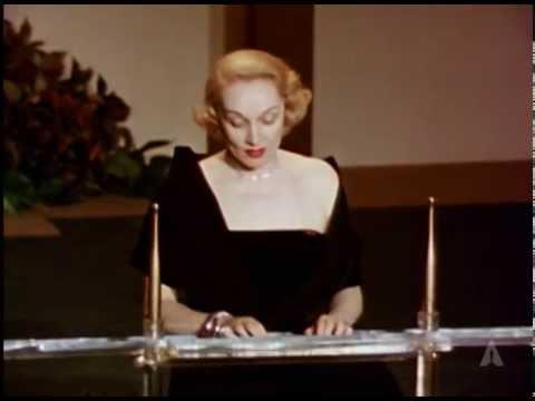 Marlene Dietrich Presents Foreign Language Award: 1951 Oscars