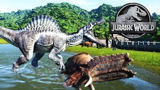 SPINOSAURUS DE HIELO, DINOSAURIO MUTANTE JURASSIC WORLD EVOLUTION