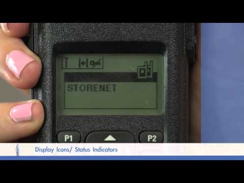 Motorola Mototrbo DP4600 Portable Radio - Display Icons Training Video