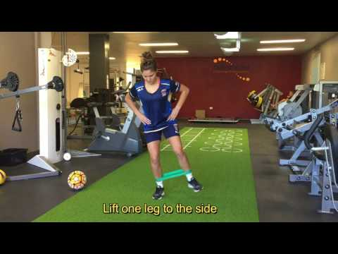 FOOTBALL PREHAB STANDING SIDE LEG LIFTS