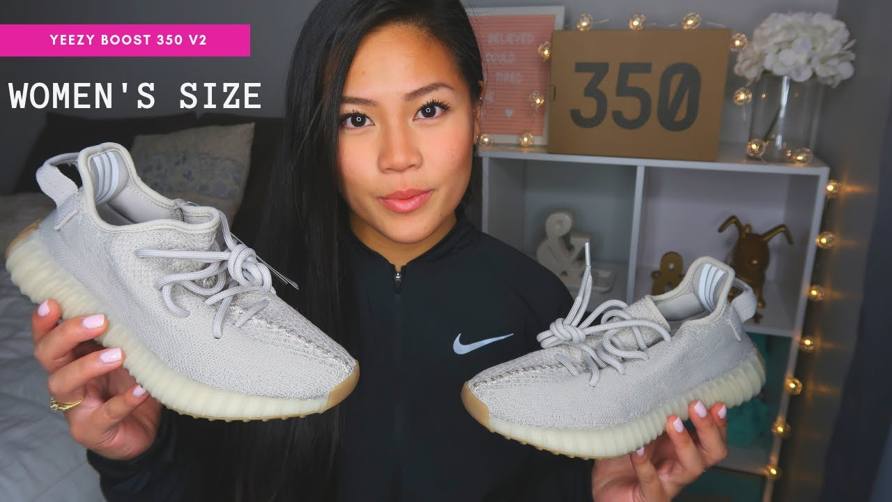 2f266a00b9ed4 YEEZY BOOST 350 V2 - WOMEN SIZING - YouTube