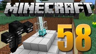 Cabeça de Wither / Wither boss / Beacon - Minecraft Em busca da casa automática #58.