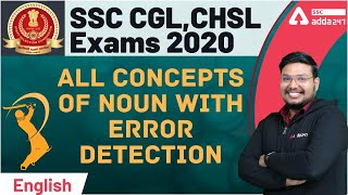 SSC CGL CHSL 2021 | English | All concepts of Noun with Error Detection