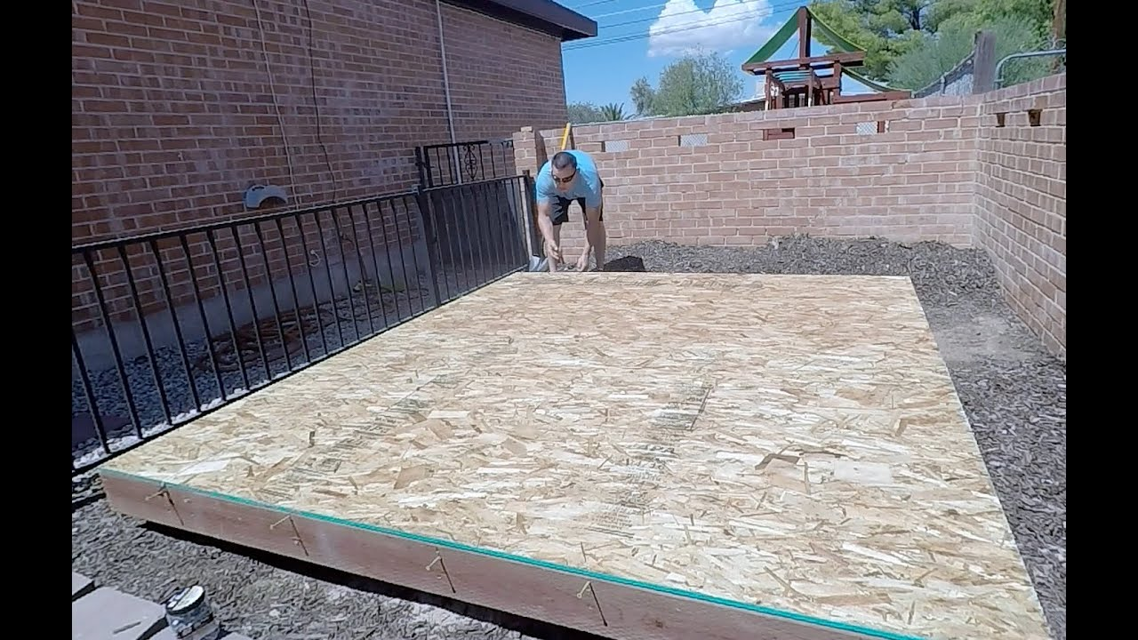 HOW TO BUILD A SHEDPLAYHOUSE PART 1 BUILDING THE FLOOR